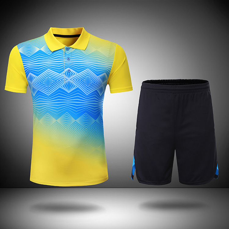 US $19 38 49% OFF|Real Promotion Breathable Quick drying Badminton Suit Men  Tracksuit Outdoor Sportswear Training Table Tennis Jersey S 4xl-in Table