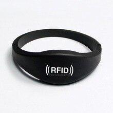 Силиконовые Rfid-браслетов С EM4305, силиконовые RFID браслет RFID Браслет 125 КГц для КОНТРОЛЯ ДОСТУПА, EM4305 Бесплатная Доставка