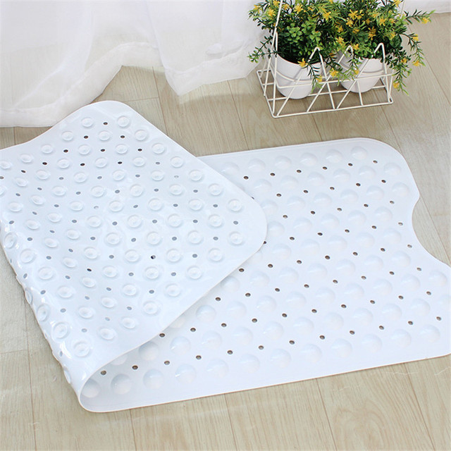 40x100cm Rectangle PVC Shower Bath Mat Non-slip Bathroom Massage Mat Suction Cup Non-slip Bathtub Carpet