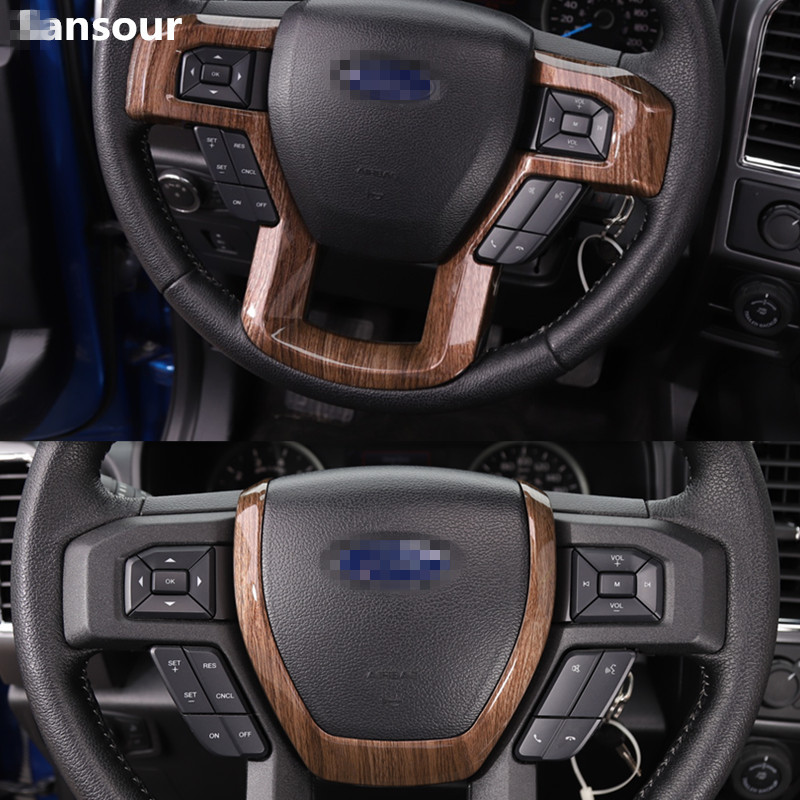2017 Ford F150 Accessories >> Sansour ABS Car Steering Wheel Decoration Trim Cover ...