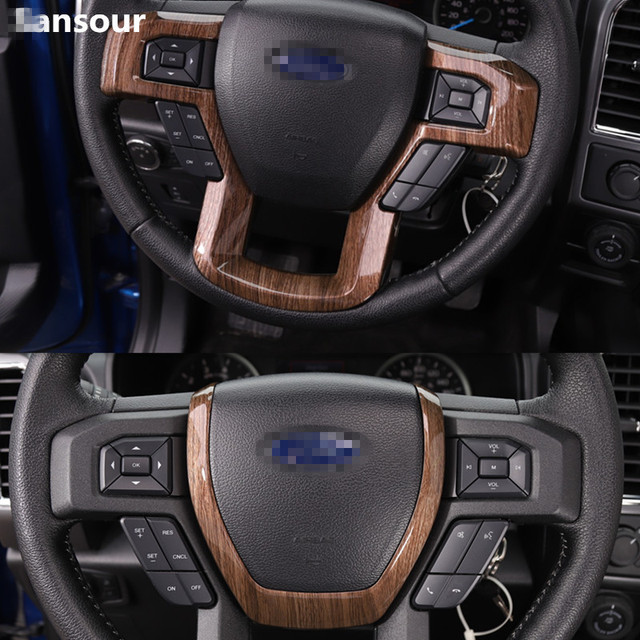 Sansour Abs Car Steering Wheel Decoration Trim Cover Interior