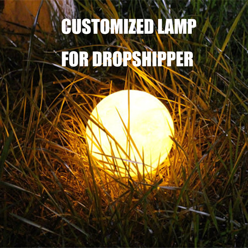 Customized Lamp For Dropshipper USB Charging Night Lamp Touch Control Brightness (Yellow+White) Customized