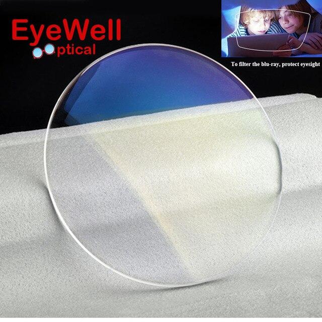 1.61 преломления Анти-синий линзы Единое Видение линзы для Близорукости и Чтение синий свет защиты глаз очки UV400 HMC