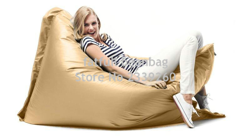 Cover Only No Filler   Golden Color ELEGANT Large Bean Bag Chairs For  Adults Waterproof Outdoor Indoor Polyester Bean Bag