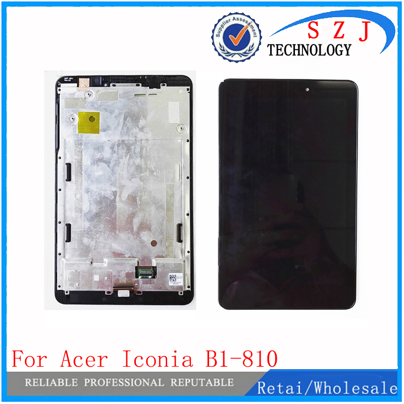 New 8'' inch For Acer Iconia Tab 8 B1-810 LCD Display Screen Panel + Touch Screen Digitizer Sensor Glass Assembly Free Shipping for new lcd display touch screen digitizer with frame assembly replacement acer a1 820 8 inch black free shipping