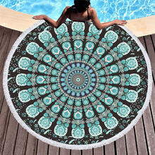 57fd90241c0a Wongs Cama Mandala Rodada Toalha de Praia Toalha de Banho Tecido De  Microfibra 150 cm Tamanho