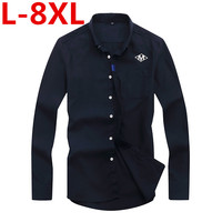 Big Size 8XL 7XL 6XL 5XL 4XL Spring Autumn Cotton Dress Shirts High Quality Mens Casual
