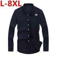 Big Size 8XL 7XL 6XL 5XL 4XL Spring Autumn Cotton Dress Shirts High Quality Mens Casual