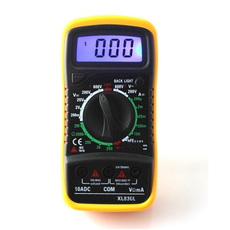 New XL830L Digital Multimeter Tragbare Multi Meter AC/DC Spannung Amp Meter Widerstand Tester Blauer Hintergrundbeleuchtung Kostenloser Versand