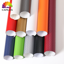 30cmx100cm 3D Carbon Fiber Vinyl Film Car Stickers Waterproof Styling Wrap Auto Vehicle Detailing Accessories Motorcycle