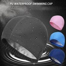 Силиконовые водонепроницаемые шапочки для купания, защищающие уши, длинные волосы, спортивная шапка для бассейна, шапочка для плавания, свободный размер для мужчин и женщин, взрослых# P3