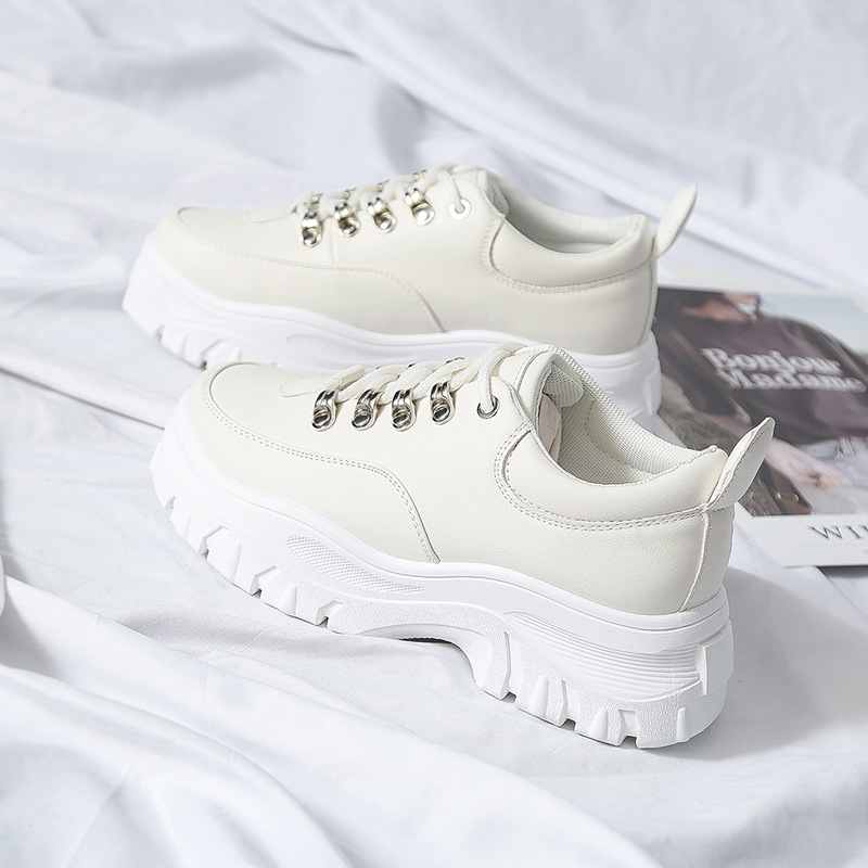 New Womens Shoes Sports Comfortable Thick-Soled Breathable Casual Shoes Spring Autumn Fashion Wild Running Small White ShoesNew Womens Shoes Sports Comfortable Thick-Soled Breathable Casual Shoes Spring Autumn Fashion Wild Running Small White Shoes