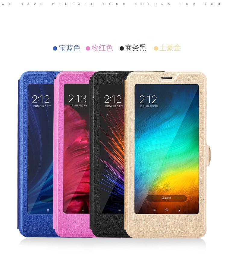 Smart window hard flip leather case for xiaomi redmi 5 plus 5a note 5 5a pro 6 6a 6 pro 02
