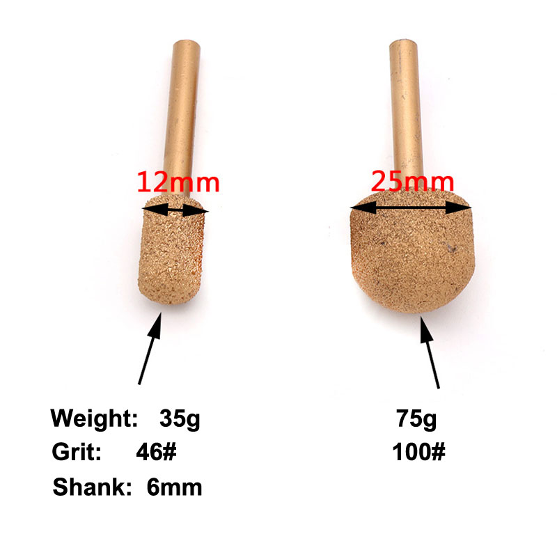 Image 4 - 1 Pcs 46#/100# 12 25mm Vaccum Brazed Diamond Burrs Rotary Tool For Marble Jade Agate Emeradle Grinding Head Grinding Bits-in Abrasive Tools from Tools