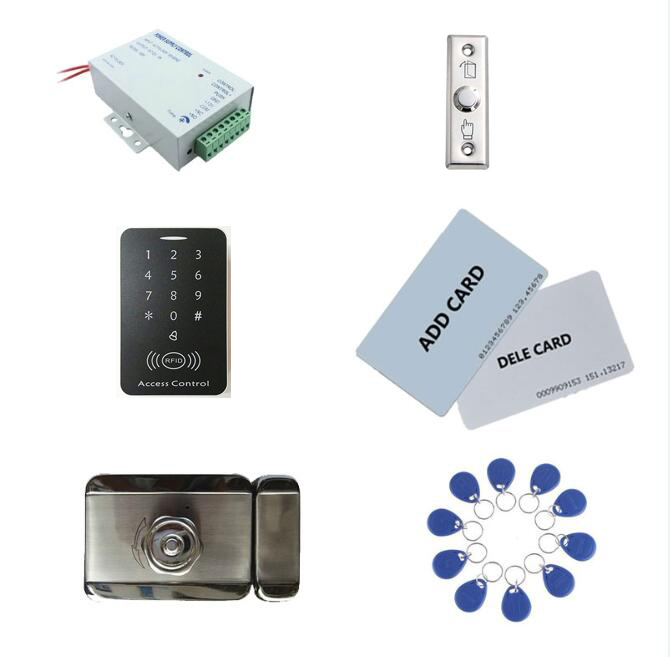access control kit,standalone access control +power+ inteligent mute lock+ exit button+2 manage card,10 keyfob ID tags,sn:set-9access control kit,standalone access control +power+ inteligent mute lock+ exit button+2 manage card,10 keyfob ID tags,sn:set-9