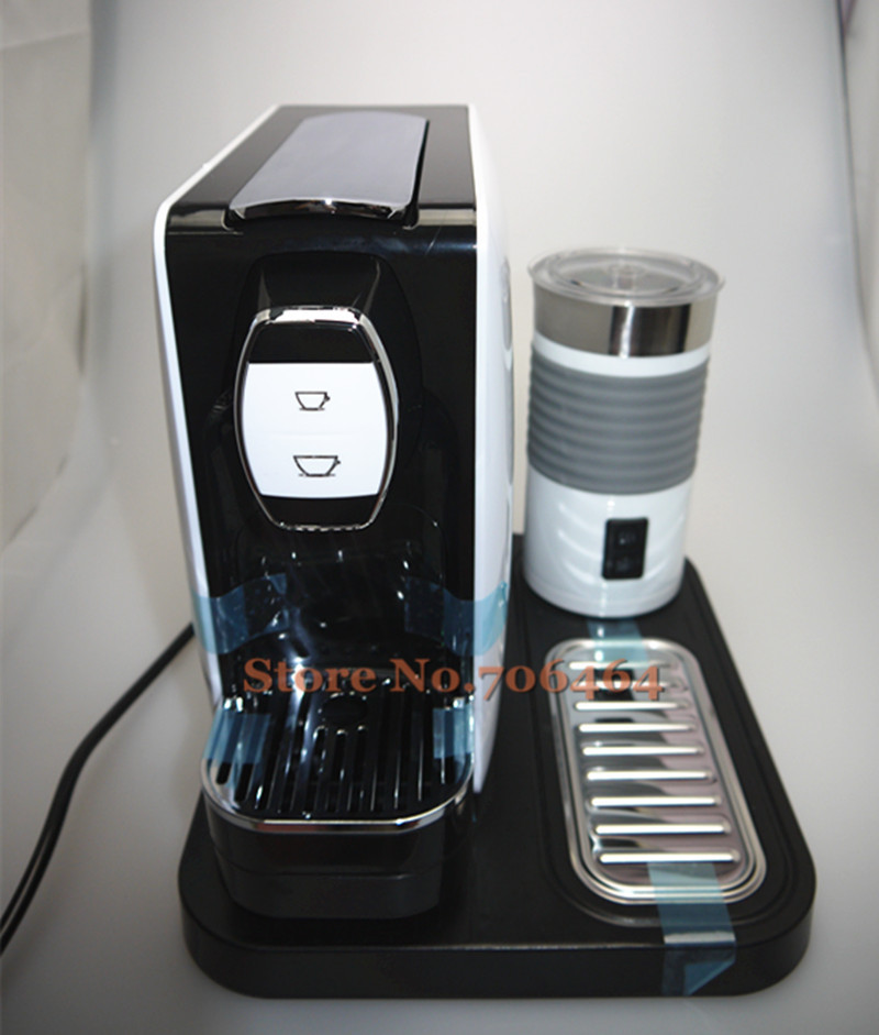 buy nespresso capsule fully automatic coffee machine with electric foam maker. Black Bedroom Furniture Sets. Home Design Ideas
