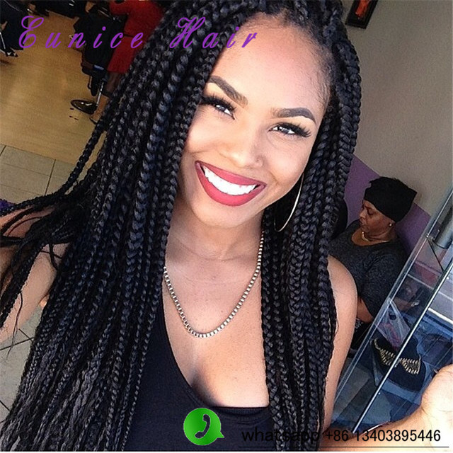 Crochet Braids Medium : Medium 3x Box Braids Crochet Latch Hook Braiding Hair 24inch Kanekalon ...