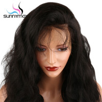 Sunnymay 360 Lace Frontal Wigs With Baby Hair 130% Density Pre Plucked 360 Lace Wig Glueless Remy Hair Body Wave Wig