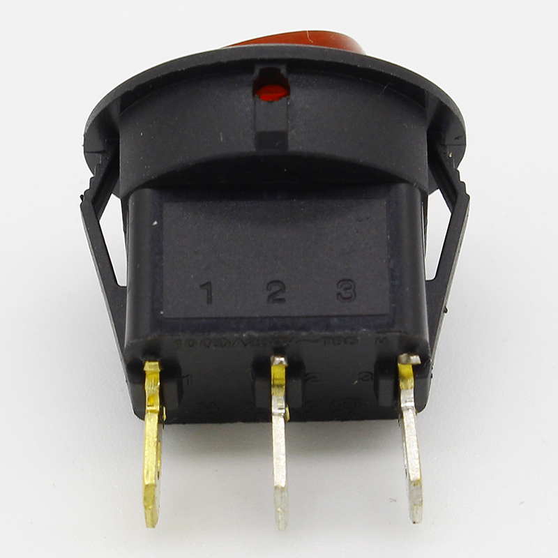Image 2 - Promotion!10pcs Red Light ON OFF SPST Round Rocker Switch 6A/250V 10A/125V AC-in Switches from Lights & Lighting