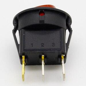 Image 2 - Promotion!10pcs Red Light ON OFF SPST Round Rocker Switch 6A/250V 10A/125V AC