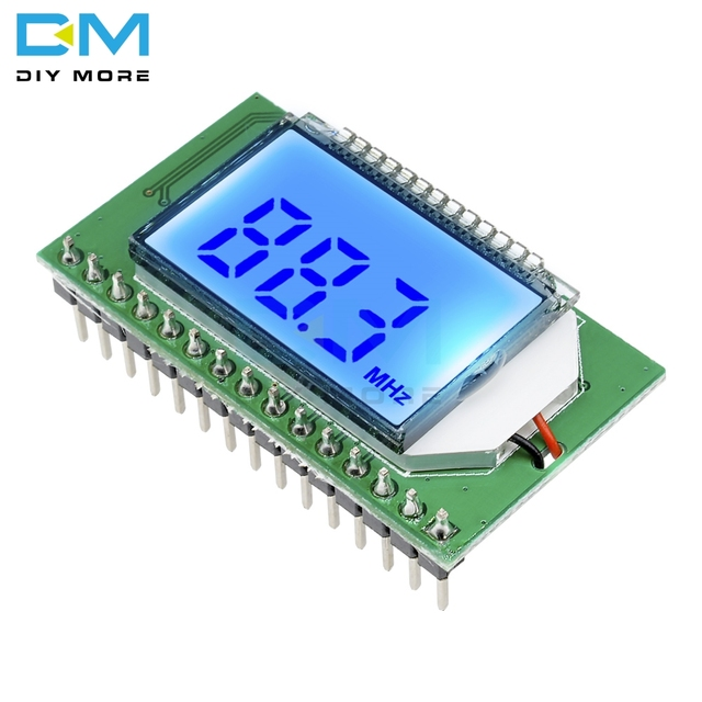 Drahtlose PLL LCD 87-108MHZ Digital FM Radio Sender/Empfänger Modul Mikrofon Stereo Bord Noise Reduktion Modul diy Kit