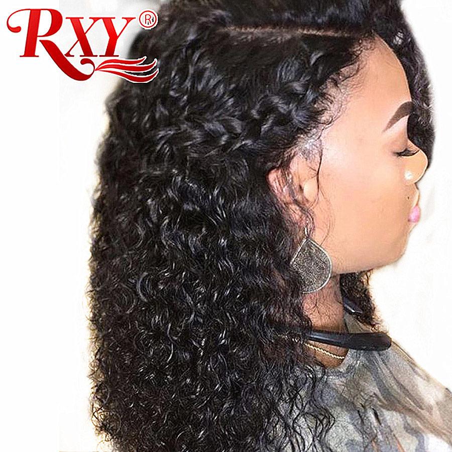 13x6 Deep Wave Lace Front Human Hair Wigs For Black Women RXY Brazilian Remy Hair Swiss