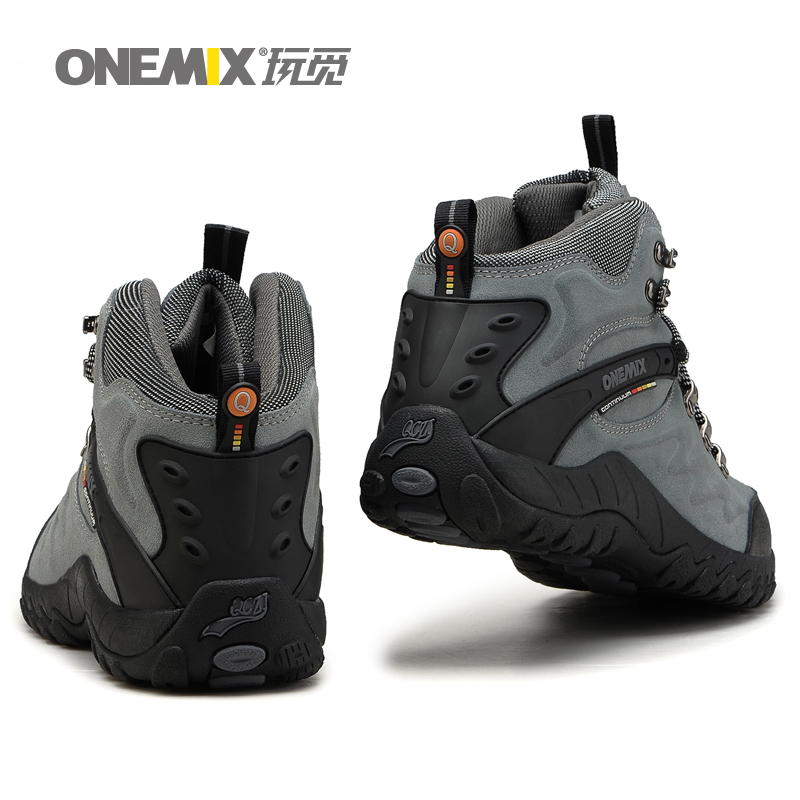 ФОТО Onemix brand men outdoor hiking shoes heathy non-slip and durable mountaineering shoe stansmith travel necessity