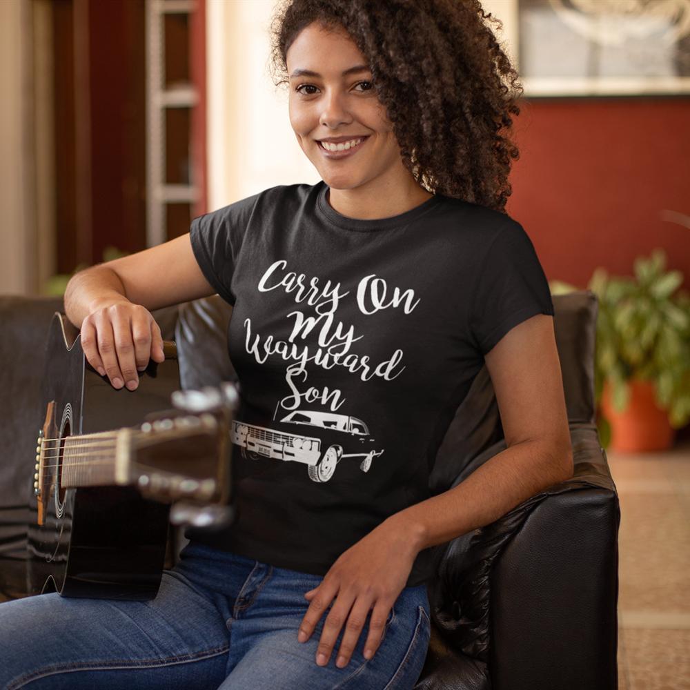 Camisa de algodão de manga curta casual das senhoras camiseta supernatural t camisa de impressão oversized|Camisetas|   - AliExpress