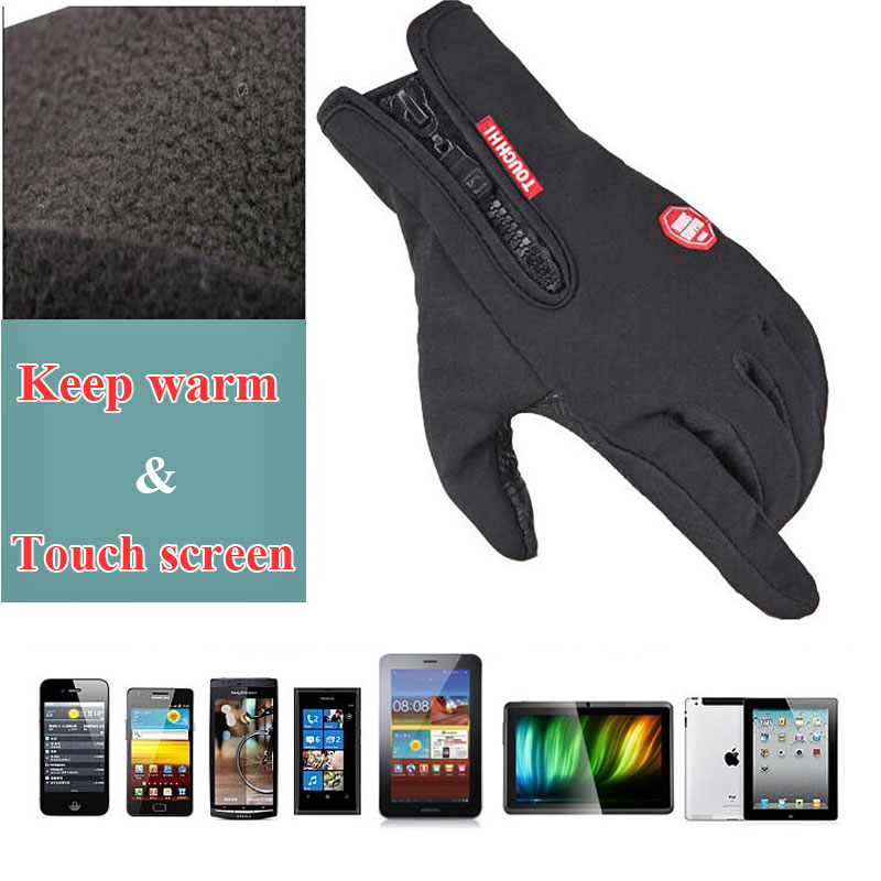 2017 Winter outdoor ski sports men and women riding full finger touch non-slip waterproof windproof fleece warm cold gloves new mens leather waterproof screen gloves mittens for male winter windproof ski super driving warm proctive gloves