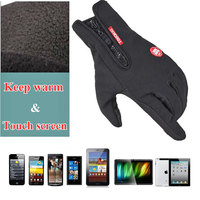 2015 Winter Outdoor Ski Sports Men And Women Riding Full Finger Touch Non Slip Waterproof Windproof