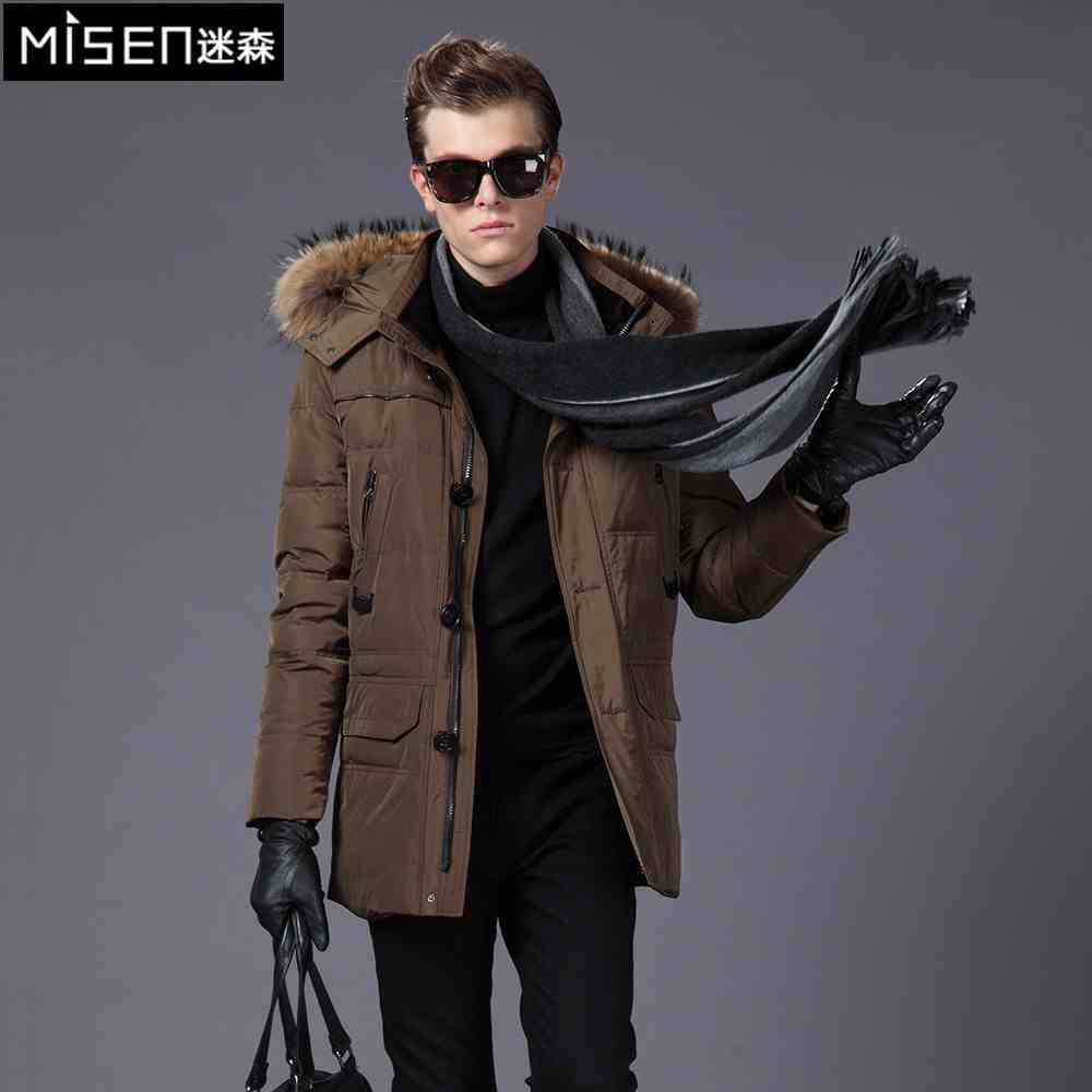 2015 New Hot Winter Hooded Thicken Warm MEN Down jacket Coat Parkas Outerwear Slim Plus Size 3XXXL Mid Long Fur collar Leisure