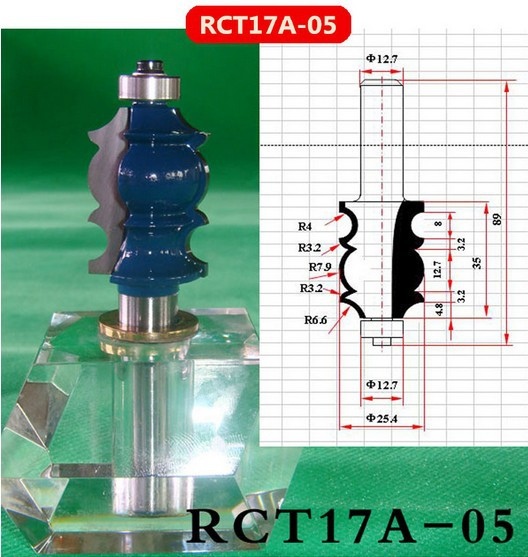Industry Quality Carbide Wood Working Line Shape Molding Router Cutter Bits V Groove ( RCT17A-05 )  цены