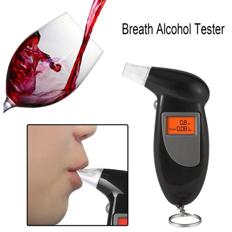2018 Professional Alcohol Breath Tester Breathalyzer Analyzer Detector Test Keychain Breathalizer Breathalyser DeviceLCD Screen