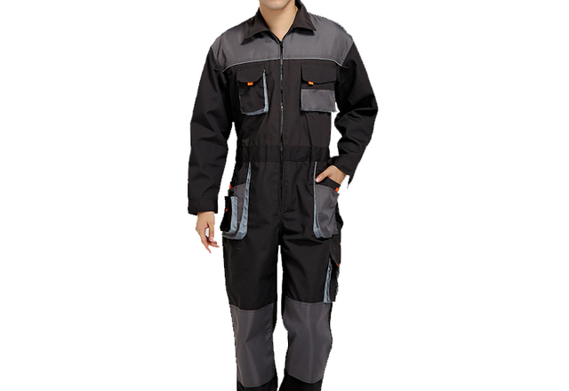 Bib overalls men work coveralls protective repairman strap jumpsuits pants working uniforms plus size sleeveless coverall 4