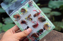 New Fly Fishing Hooks Fish Fishing Lure  Butterfly  Bait Hook Tackle Tool 12pcs