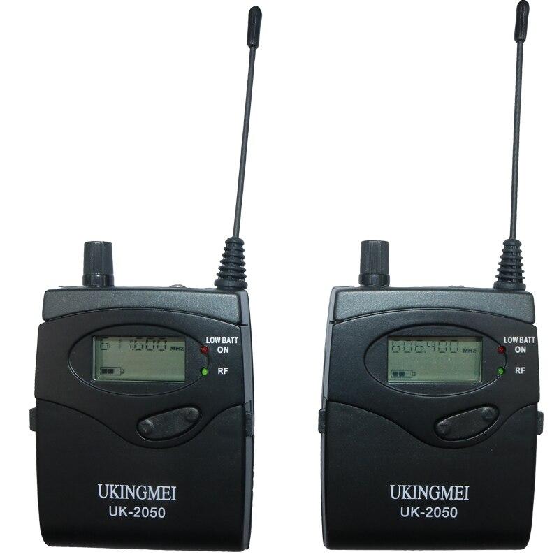UKINGMEI UK-2050 Drahtlose in-ear-monitor-system, sr 2050 iem Persönliche in-ohr bühne Überwachung 2 Sender 2 Empfänger