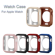 TPU Case For Apple Watch case 4 44/40mm Protective Cover Frame iwatch series 3 2 1 38mm 42mm Fall Resistance Shell Accessory