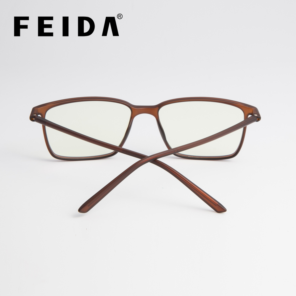 3107ca6cda FEIDA Square Computer Glasses Anti Blue Light Blocking Glasses Clear Eye  Glass Frames for Men Retro Men s Anti Blue Ray Glasses -in Eyewear Frames  from ...