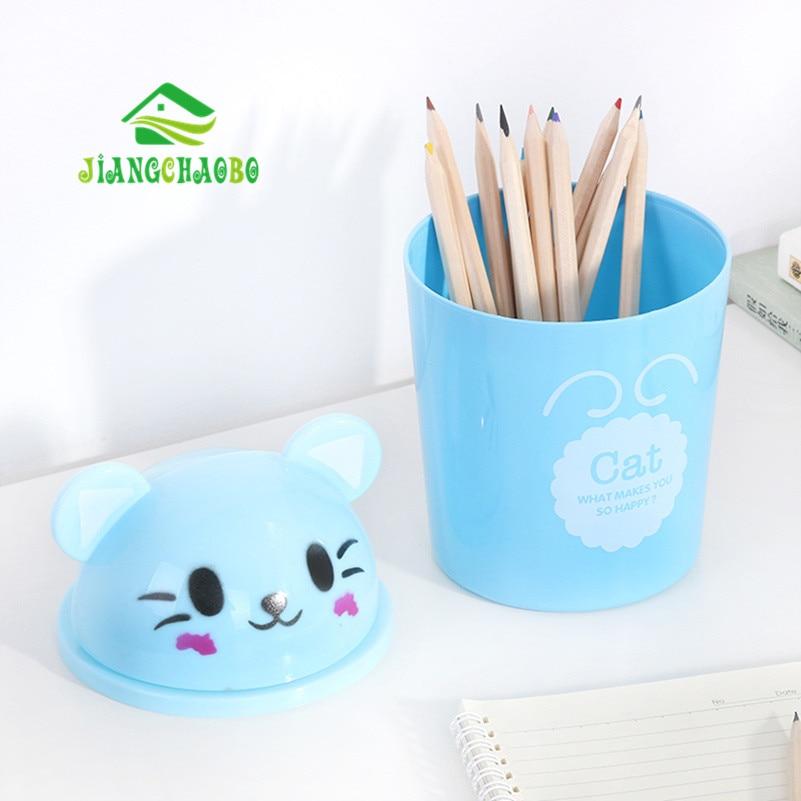 Mini Bucket Bucket Kartun Cute Trash Barrel Creative Desktop Storage - Organisasi dan penyimpanan di dalam rumah - Foto 3