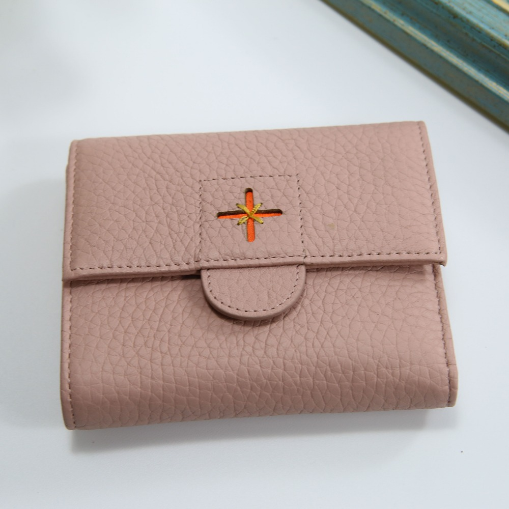 Designer women short wallet coin pocket genuine leather women roomy purse credit card money clip clutch holder case wallet