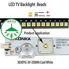 100 шт/лот холодный белый свет светоизлучающего диода 3030 3В