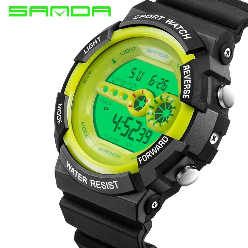 Sanda Digital Watch Girl Waterproof Boys Fashion Children Relogio 30m Casual LED Brand