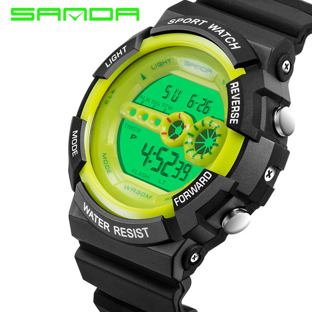 Sanda Brand Children Sports Watches 30m Waterproof Fashion Casual Digital Watch