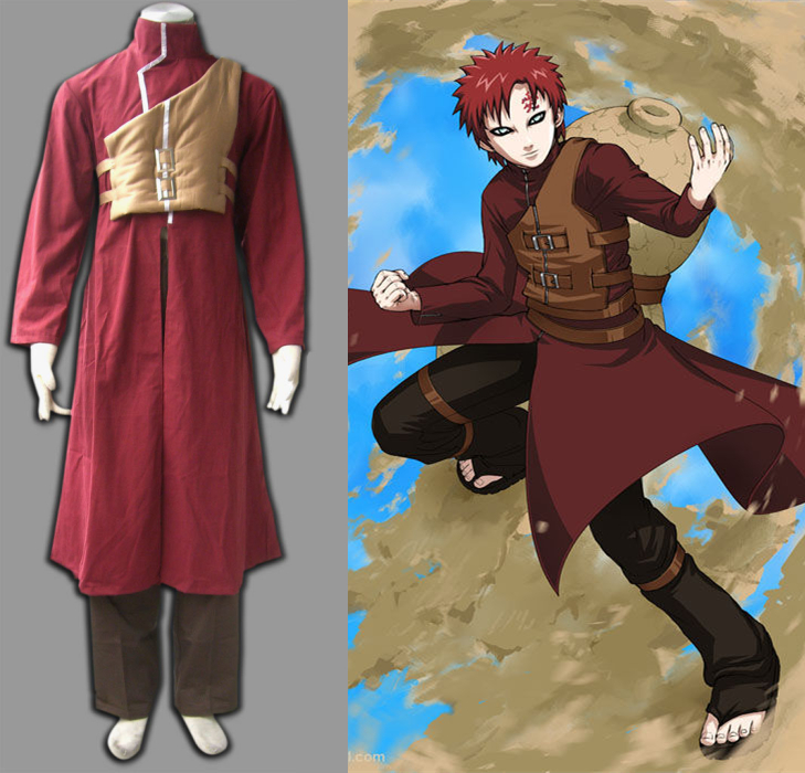 Anime Naruto Gaara Cosplay Costumes Sabaku no Gaara Halloween Adult Unisex Cosplay Full Set (Cloak + Vest + Pants) & Anime Naruto Gaara Cosplay Costumes Sabaku no Gaara Halloween Adult ...