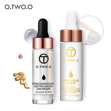 O.TWO.O Makeup Sets Liquid Highlighter & 24k Gold Infused Beauty Oil Make Up Highlighter Liquid Anti-aging Face Essential Oil(China)