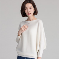 Spring Autumn NEW Fashion Largesize Pure Cashmere Sweater Slim Waist Knitted Pullover Soft High Quality Female
