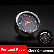 Car Clock Ornaments Air Vents Outlet Clip sticker Logo For Land Rover freelander 2 1 discovery 3 4 2