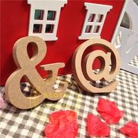 10cm Wood Letter Christmas Wooden Letters Decoration Fashion Decoration Wood Color Letter Wedding Decoration