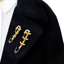 Длина см 8 см Мода Пчела жемчуг Детская безопасность булавки для пальто шаль брошь Producto аксессуары для одежды подарок