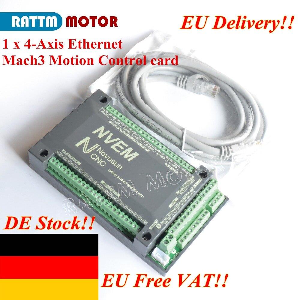 NVEM 3//4//5//6 Axis 200Khz CNC Ethernet Controller Breakout Interface Mach3 Board